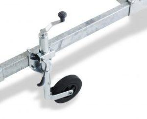 Komplet støttehjulsholder til bådtrailere incl. næsehjul