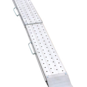 Slisker, foldbare rampe med håndtag