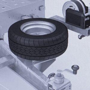 Reservehjulsholder til lavtbygget Autotransporter, Universal