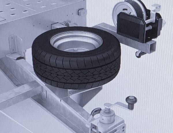 Reservehjulsholder til højtbygget Autotransporter, Universal