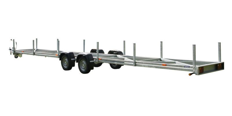 Variant 2716 R10 rørtrailer beregnet til transport af lange plast rørr